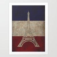 Minimalist France Art Print