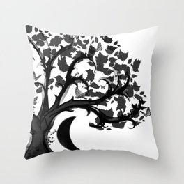 The Zen Tree Throw Pillow