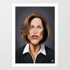 Celebrity Sunday ~ Gillian Anderson Art Print