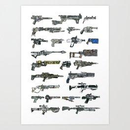 The Force Awakens firearms Art Print