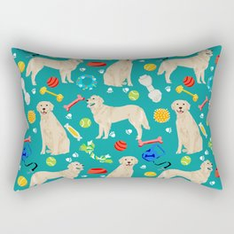 Golden Retriever pet friendly dog breeds dog toys cute dog gifts for dog lovers Rectangular Pillow