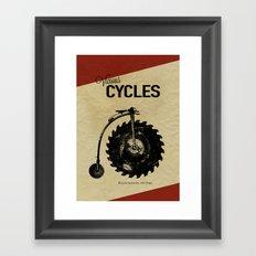 Vicious Cycles Framed Art Print
