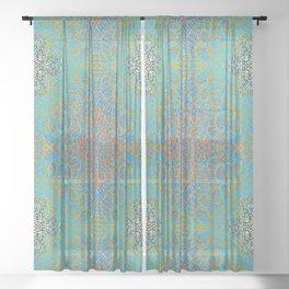 Mehndi Ethnic Style G368 Sheer Curtain