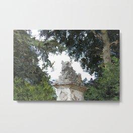 Woburn Lion - Acrylic Palette Knife Metal Print