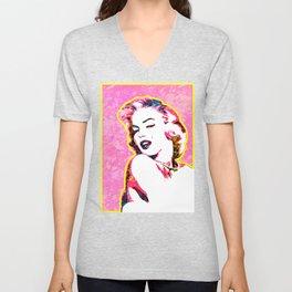 Marilyn | Splatter Series | Monroe | Pop Art Unisex V-Neck