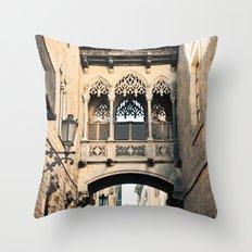 Old Barcelona Throw Pillow