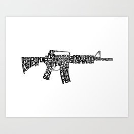 Pew Pew AR-15 Art Print