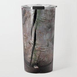 Rusted Horseshoe on Weathered Wood rustic decor Travel Mug