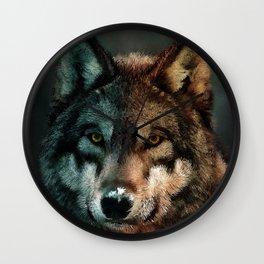 Animal Art - Wolf Wall Clock
