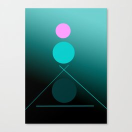 The 3 dots, power game 15 Canvas Print