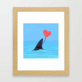 Original Shark Love Design Framed Art Print