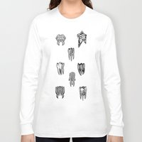 tooth Long Sleeve T-shirts featuring Tooth 4 tooth by comma black