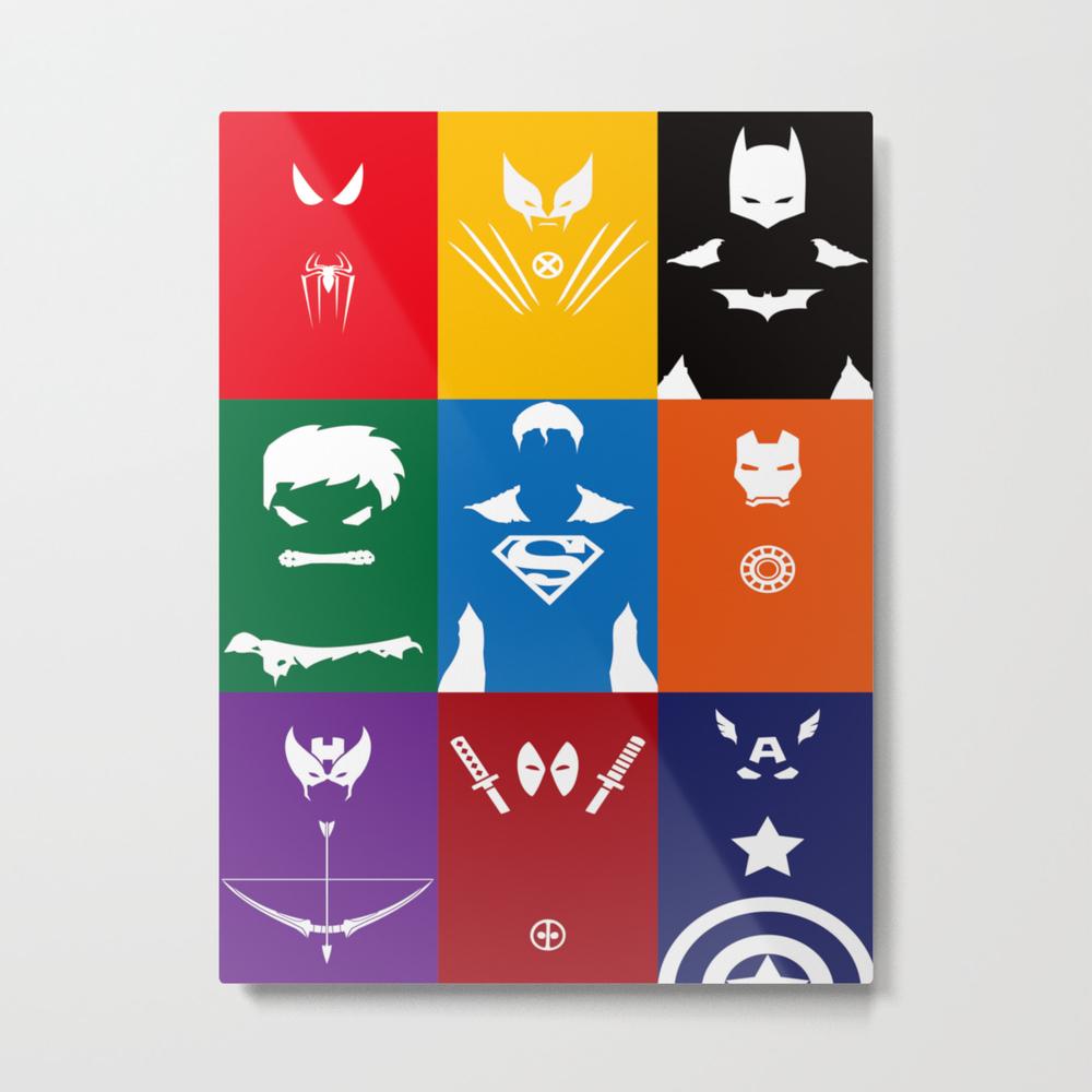 Spider Man Hulk Iron Sign Captain Metal Print by Papperart MTP8392508