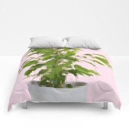 Pixelated Pot Plant Comforters