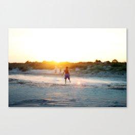 """Beach Play, Tybee Island, Georgia"" by Simple Stylings Canvas Print"