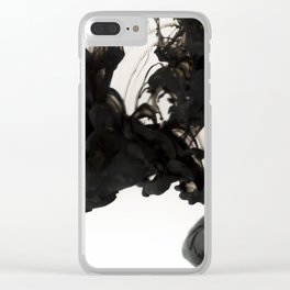 Ink #abstract #black Clear iPhone Case