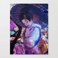 Geisha Cherries Festival  Canvas Print