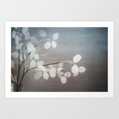 WHITE PAPER FLOWERS Art Print