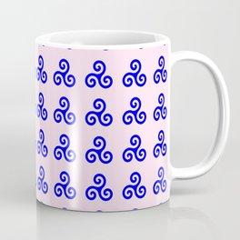Triskele 4 -triskelion,triquètre,triscèle,spiral,celtic,Trisquelión,rotational Coffee Mug