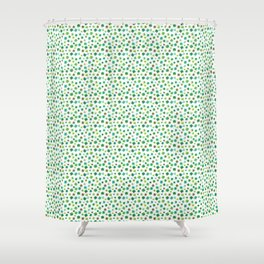 Lucky Watercolor Clovers Shower Curtain