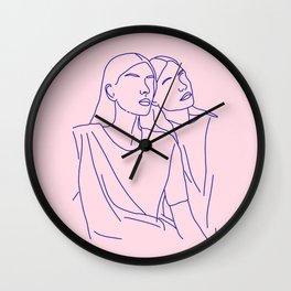 on ne voit bien qu'avec le coeur Wall Clock