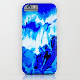 Fluid Abstract 32; Crashing Waves iPhone Case