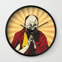 lama Wall Clocks featuring Dalai Lama by ArDem