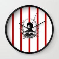 will graham Wall Clocks featuring Will Graham by JM London