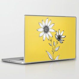 Wildflower line drawing | Botanical Art Laptop & iPad Skin