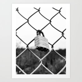 Lock Fence Art Print