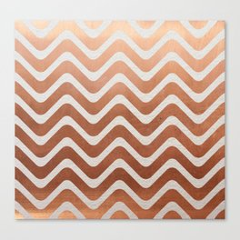 Copper and Paper Canvas Print
