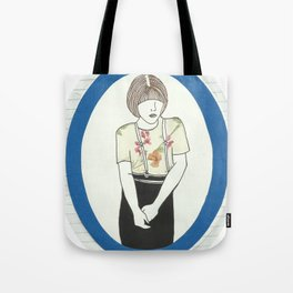 Girl With Braces Tote Bag