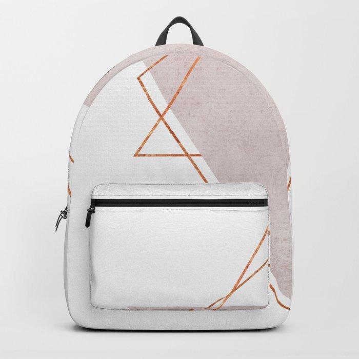BLUSH COPPER ROSE GOLD GEOMETRIC SYNDROME II Backpack