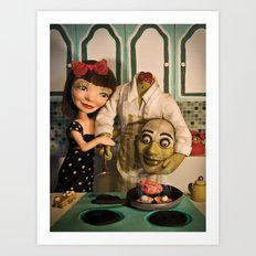 Cooking with Heart Art Print