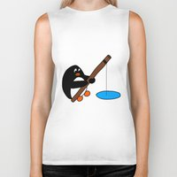 fishing Biker Tanks featuring Fishing by Kakida Lily