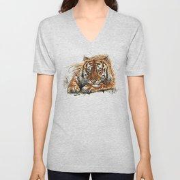 Tiger watercolor Unisex V-Neck