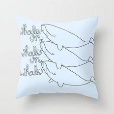 Whales! Throw Pillow
