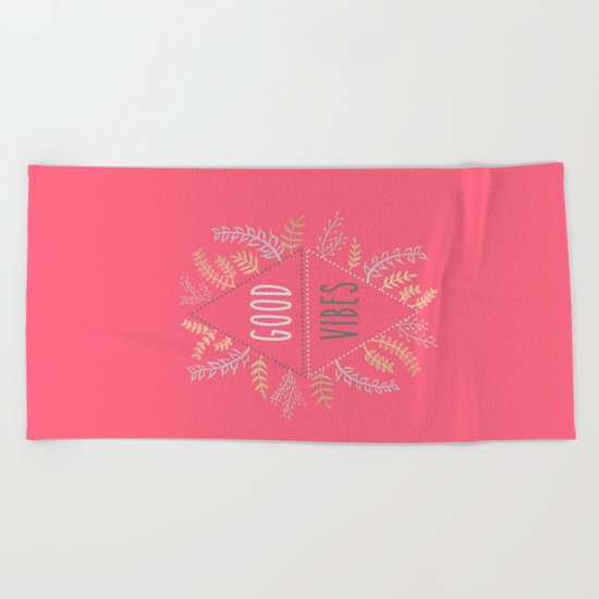 GOOD VIBES #1 Beach Towel
