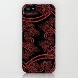 Grenadine on Black Fractal iPhone Case