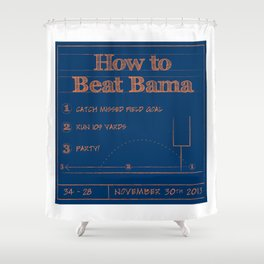 How to beat Bama Shower Curtain