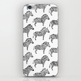 Zebras – Black & White Palette iPhone Skin