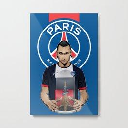 Football Stars: Zlatan Ibrahimovic Metal Print