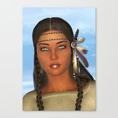 Native American Woman Canvas Print