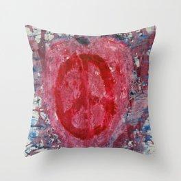 Peaceful Heart Throw Pillow