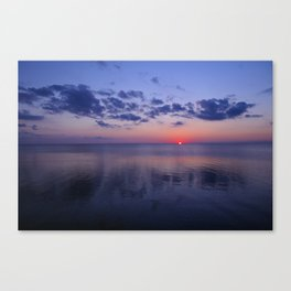 Dead Calm Sunset on the Sound Canvas Print