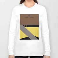 battlefield Long Sleeve T-shirts featuring Worf - Minimalist Star Trek TNG The Next Generation - Enterprise 1701 D - startrek - Trektangles by Trektangles