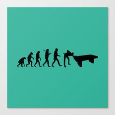 Evolution snooker Canvas Print