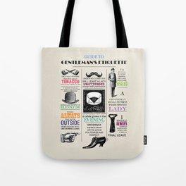 Gentlemans Etiquette  Tote Bag