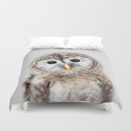 Baby Owl - Colorful Duvet Cover