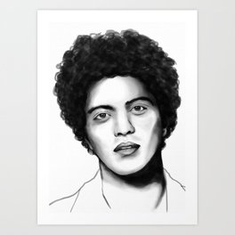 BrunoMars  Digital Portrait Art Print